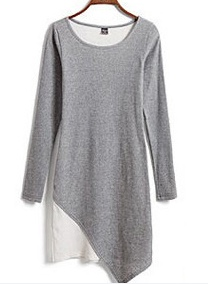 Tidestore Comfy Long Sleeves Plus Size Thin Short Day Dress